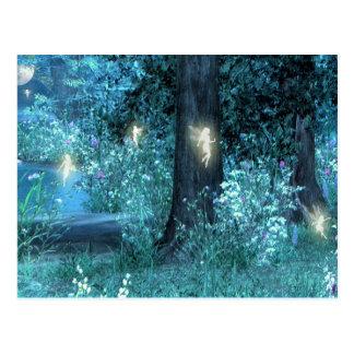 Carte postale de fée de jardin