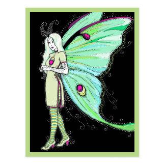 Carte postale de fée de mite de Luna