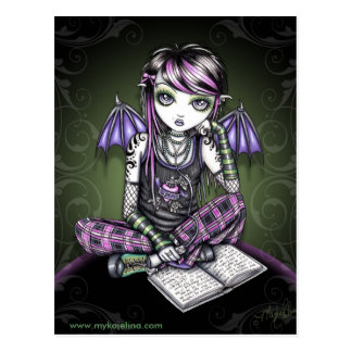 Carte postale de fée d'Emo à ailes par batte IPod