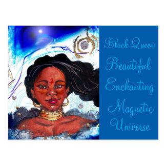 Carte postale de femme de couleur