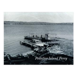 Carte postale de ferry d'île de Pelletier