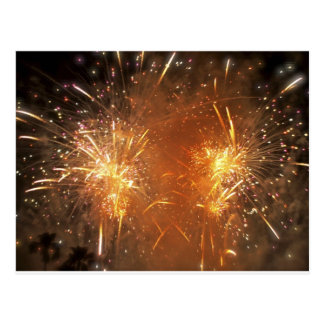 Carte postale de feux d'artifice