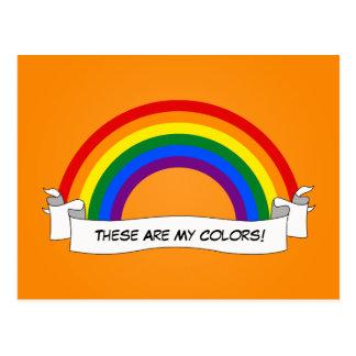Carte postale de fierté d'arc-en-ciel de LGBT