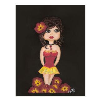 Carte postale de fille de Quantum Cutie de fille