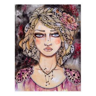 Carte postale de fille d'Orion