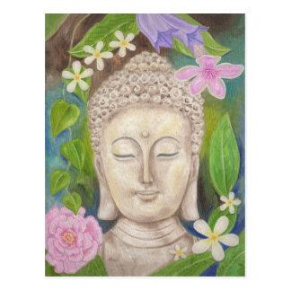 Carte postale de fleur de Bouddha