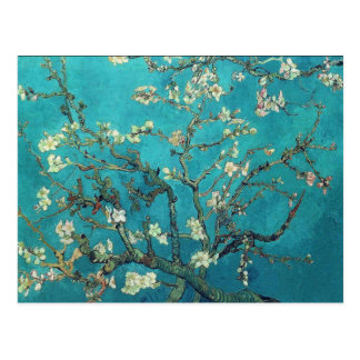 Carte postale de fleurs d'amande de Van Gogh