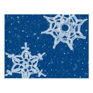 Carte postale de flocons de neige