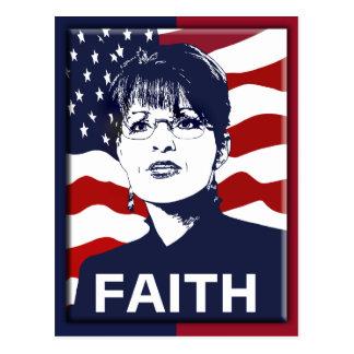 Carte postale de foi de Sarah Palin
