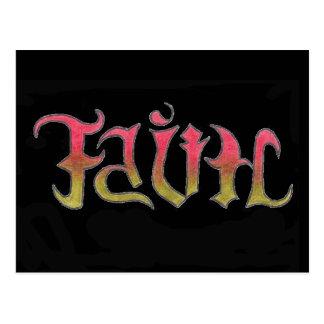 Carte postale de foi et d'espoir