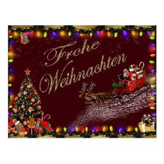 Carte postale de Frohe Weihnachten