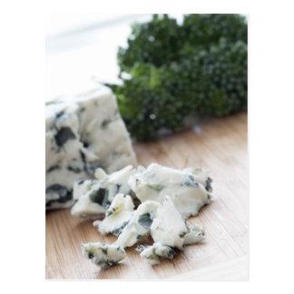 Carte postale de fromage bleu de tentation
