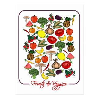Carte postale de fruits et de légume,