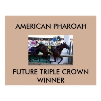 Carte postale de gagnant de Triple Crown de