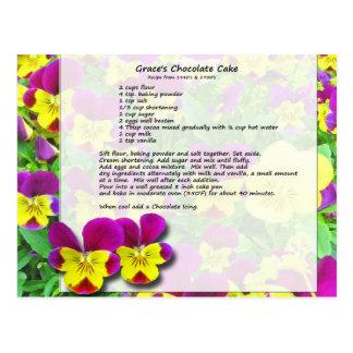 Carte postale de gâteau de chocolat de la grâce