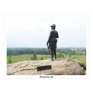 Carte postale de Gettysburg