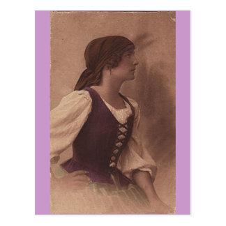 carte postale de gitan de victorian