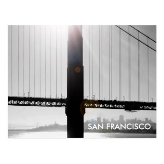 Carte postale de golden gate bridge (noir et