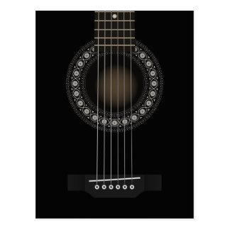 Carte postale de guitare acoustique