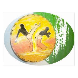 carte postale de hache de ginga de capoeira