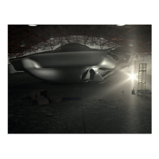 Carte postale de hangar d'UFO de Roswell