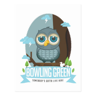 Carte postale de hibou de Bowling Green