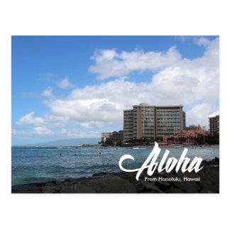 Carte postale de Honolulu Hawaï de plage de