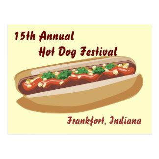 Carte postale de hot-dog