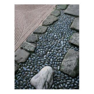 Carte postale de jardin de zen et de résumé