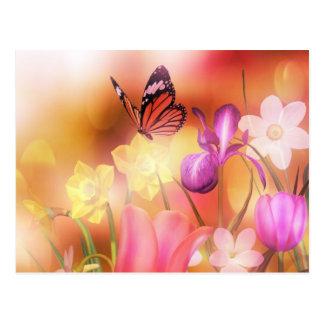Carte postale de jardin d'imaginaire de papillon