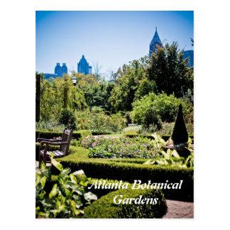 Carte postale de jardins botaniques d'Atlanta