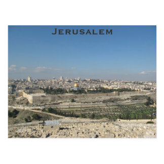 Carte postale de Jérusalem