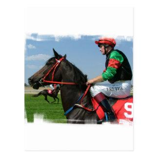 Carte postale de jockey et de cheval