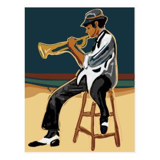 Carte postale de joueur de jazz