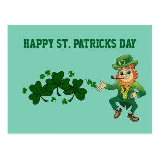 Carte postale de jour de St Patricks