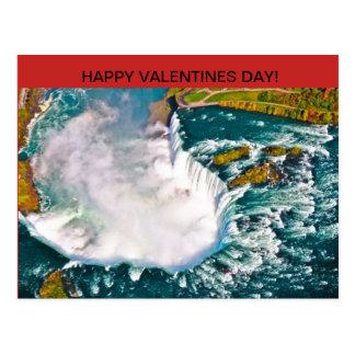 Carte postale de jour de Valentines de chutes du