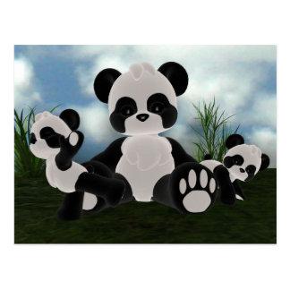Carte postale de jour ensoleillé de Bearz de panda
