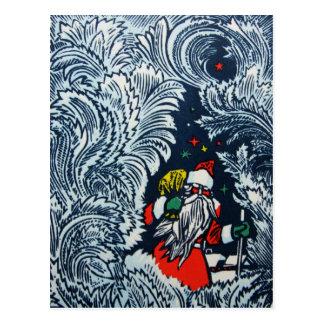 Carte postale de Joyeux Noël du cru 1975 de Russie