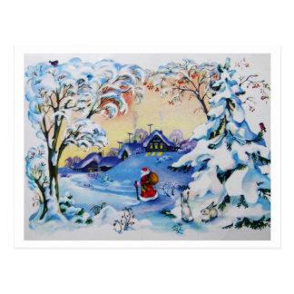 Carte postale de Joyeux Noël du cru 1984 de Russie