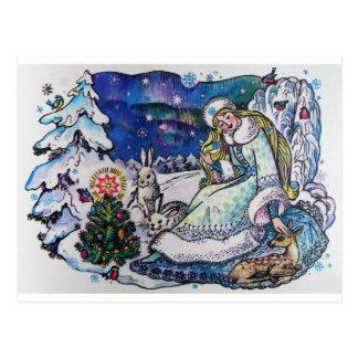 Carte postale de Joyeux Noël du cru 1986 de Russie