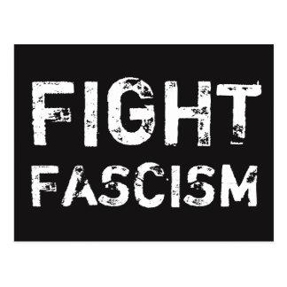 Carte postale de justice sociale de FASCISME de