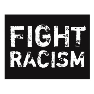 Carte postale de justice sociale de RACISME de