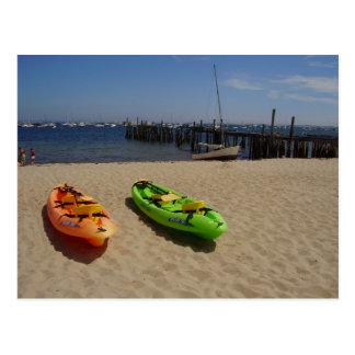 Carte postale de kayaks