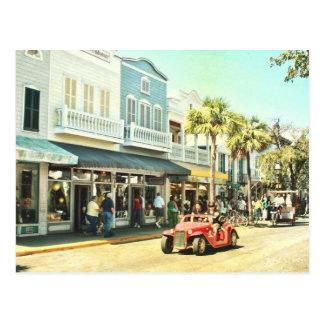 Carte postale de Key West la Floride de rue de