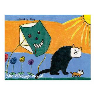 Carte postale de Kitty de soleil
