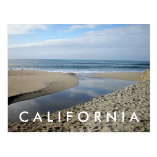 Carte postale de la Californie de plage de Venise