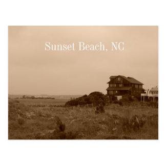Carte postale de la Caroline du Nord de plage de
