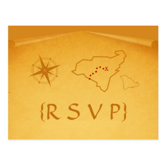 Carte postale de la carte RSVP de trésor