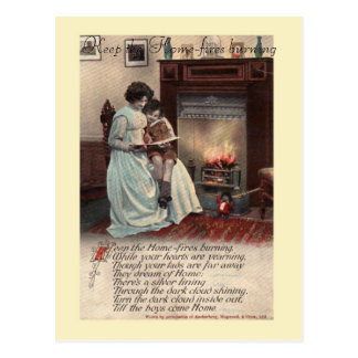 Carte postale de la chanson WW1