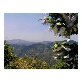 Carte postale de la Chypre de montagnes de Troodos